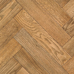 Carillon Oak Parquet Effect Vinyl cut to chosen