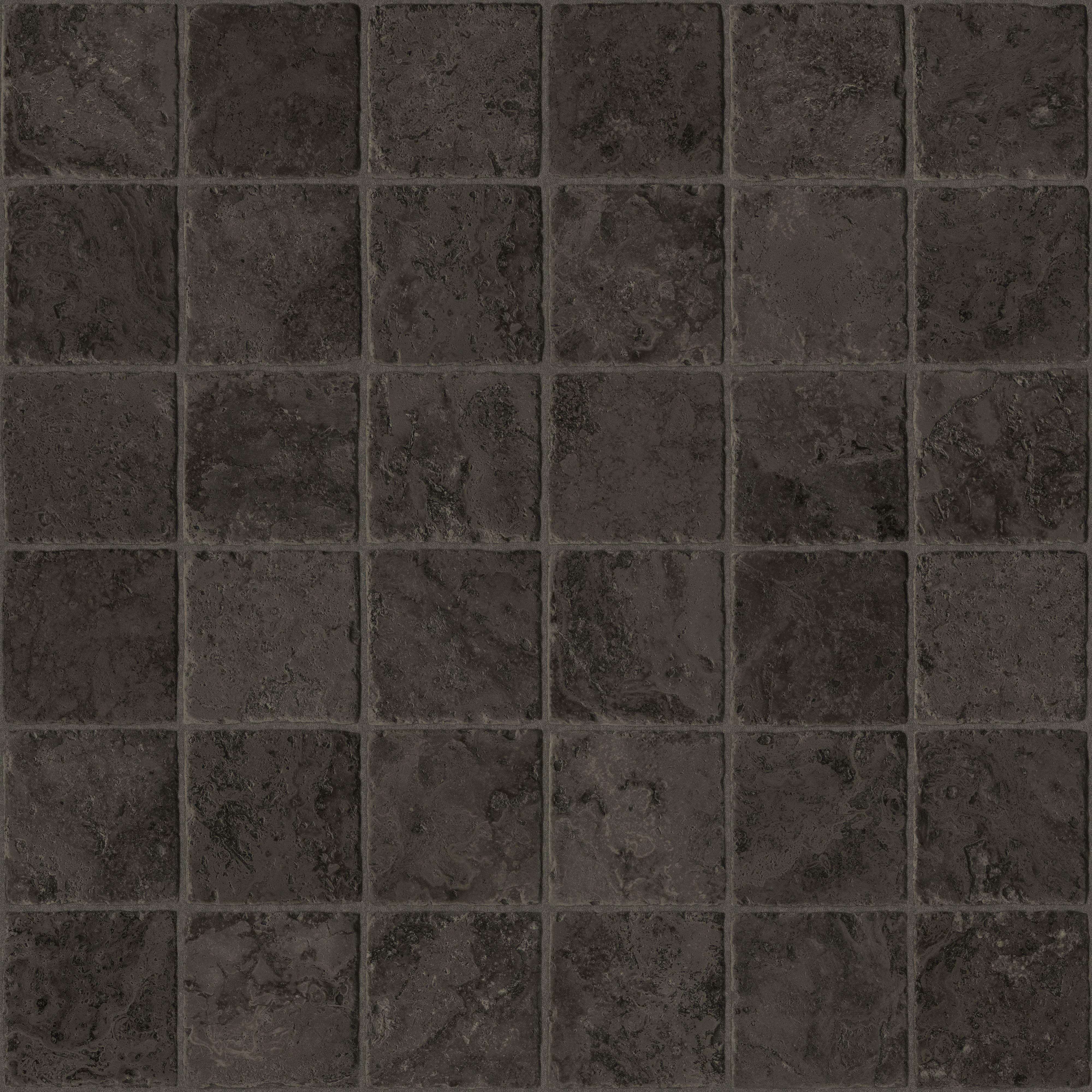 Sedrano Black Stone Tile Effect Vinyl Cut To Chosen Length In Store