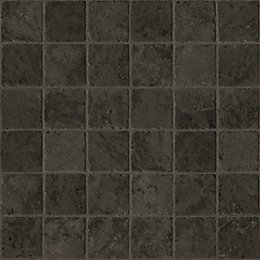Sedrano Black Stone Tile Effect Vinyl cut to