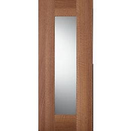 IT Kitchens Westleigh Walnut Effect Shaker Glazed Door