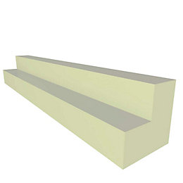 IT Kitchens Gloss Cream Slab Corner Post (H)720mm