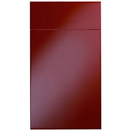 Cooke & Lewis Raffello High Gloss Red Slab
