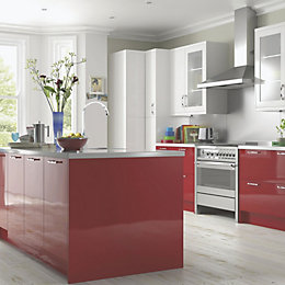 Cooke & Lewis High Gloss Red Contemporary Op4