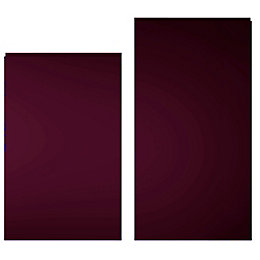 Cooke & Lewis Raffello High Gloss Aubergine Tall