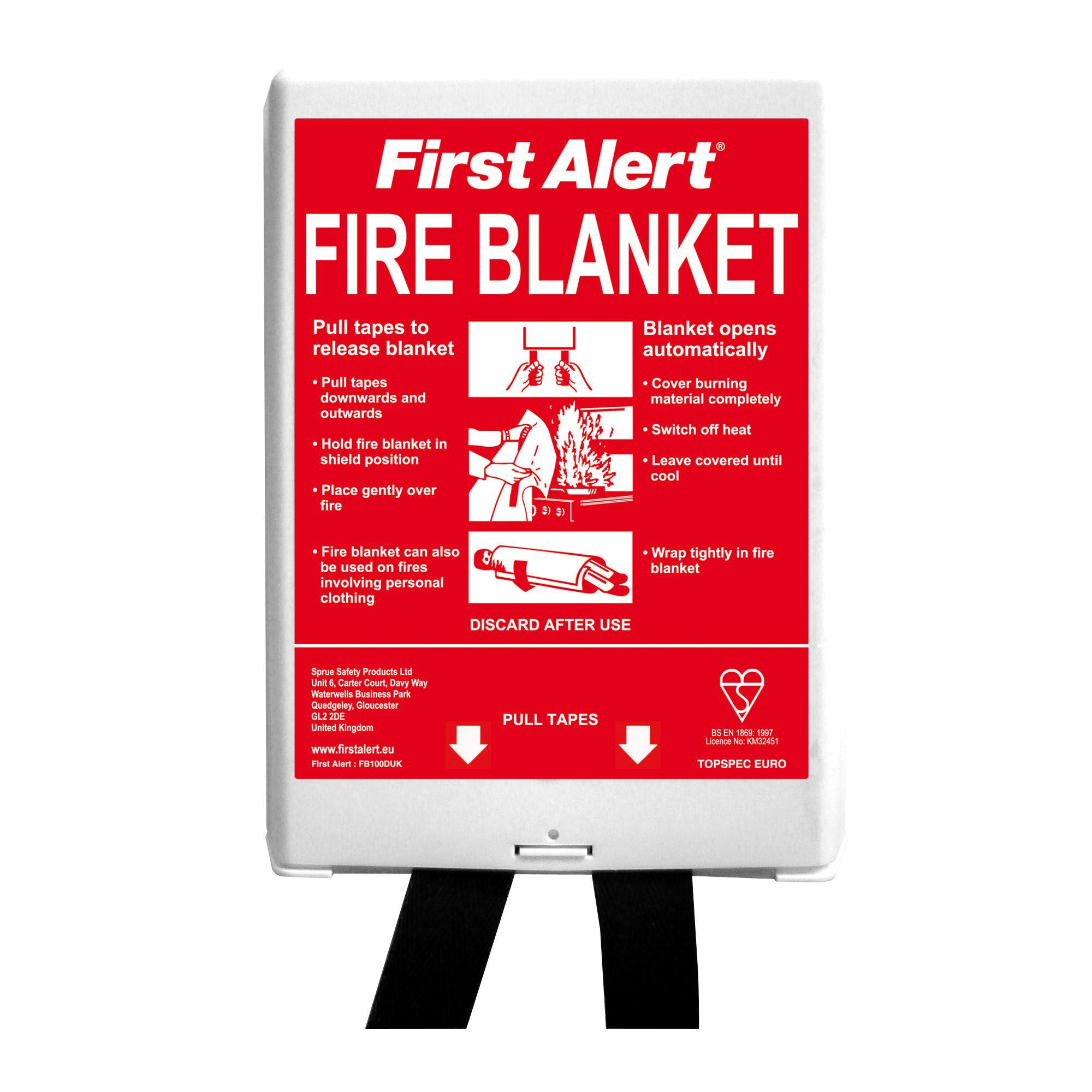 First Alert Fire Blanket W1000mm H1000mm Departments