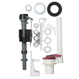 Fluidmaster Black, Red & White Plastic Fill Valve
