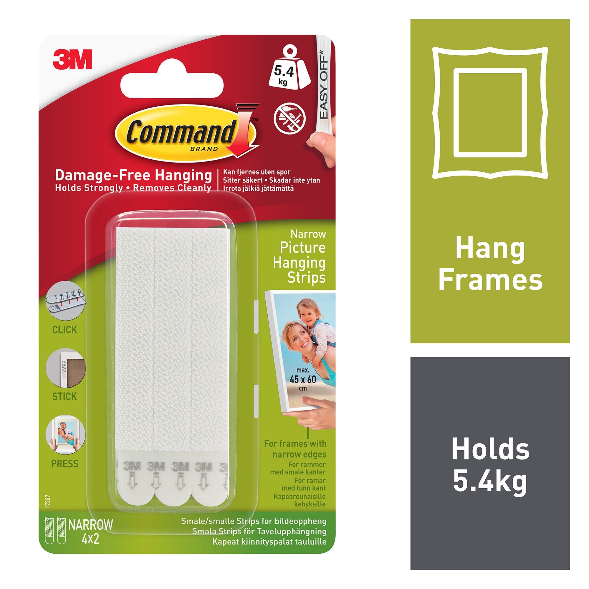 Command Strips Christmas Tree: 3M Command White Foam Picture Hanging Strips, Set Of 4
