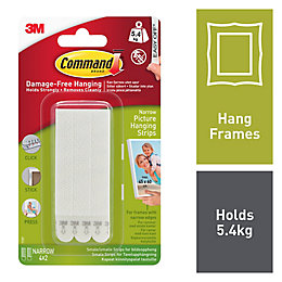 3M Command White Foam Picture Hanging Strips, Set