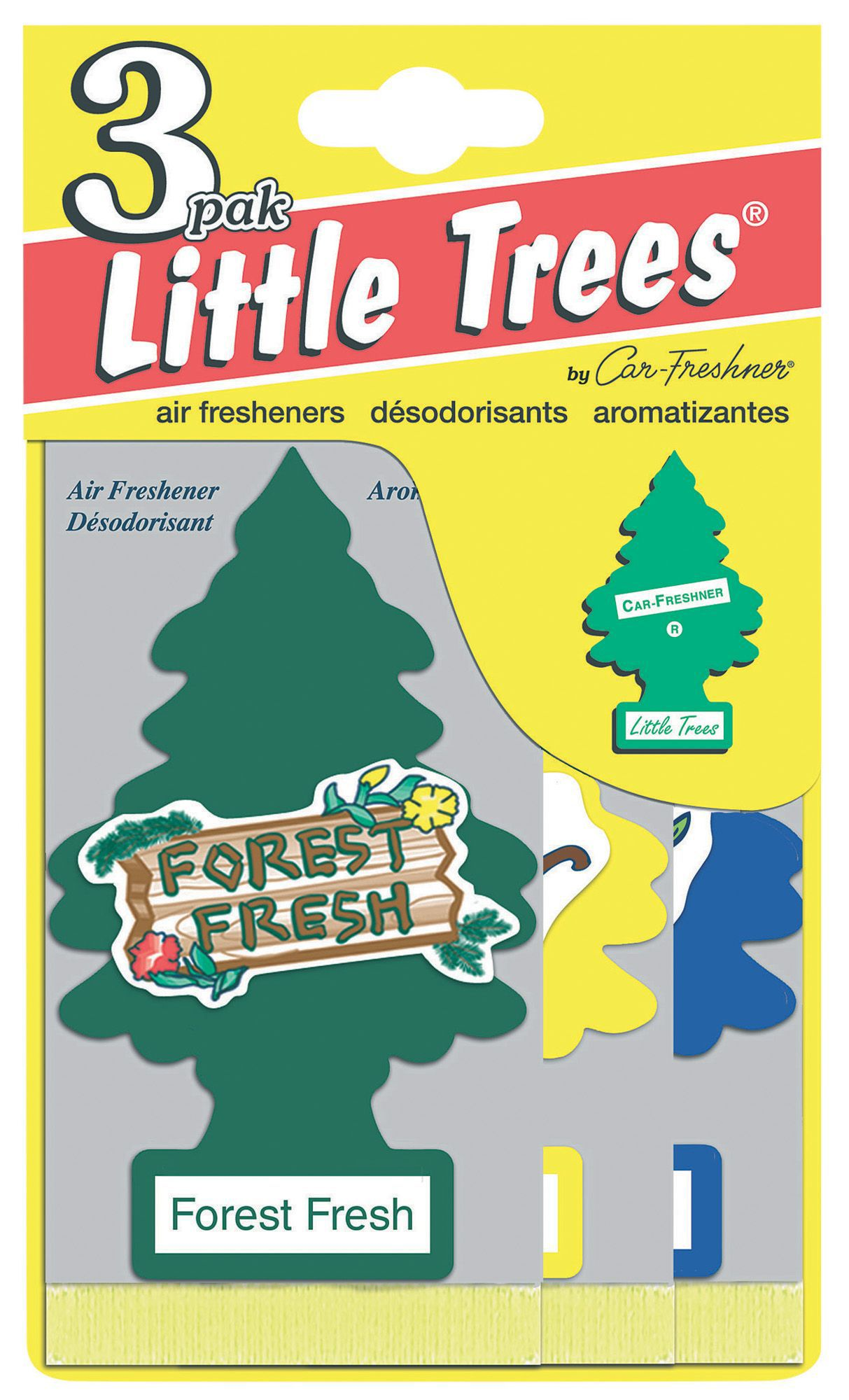 Little Trees Vanilla Aroma Air Freshener Pack Of 3