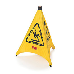 Plastic Pop-Up Safety Cone (H)600mm (W)208mm