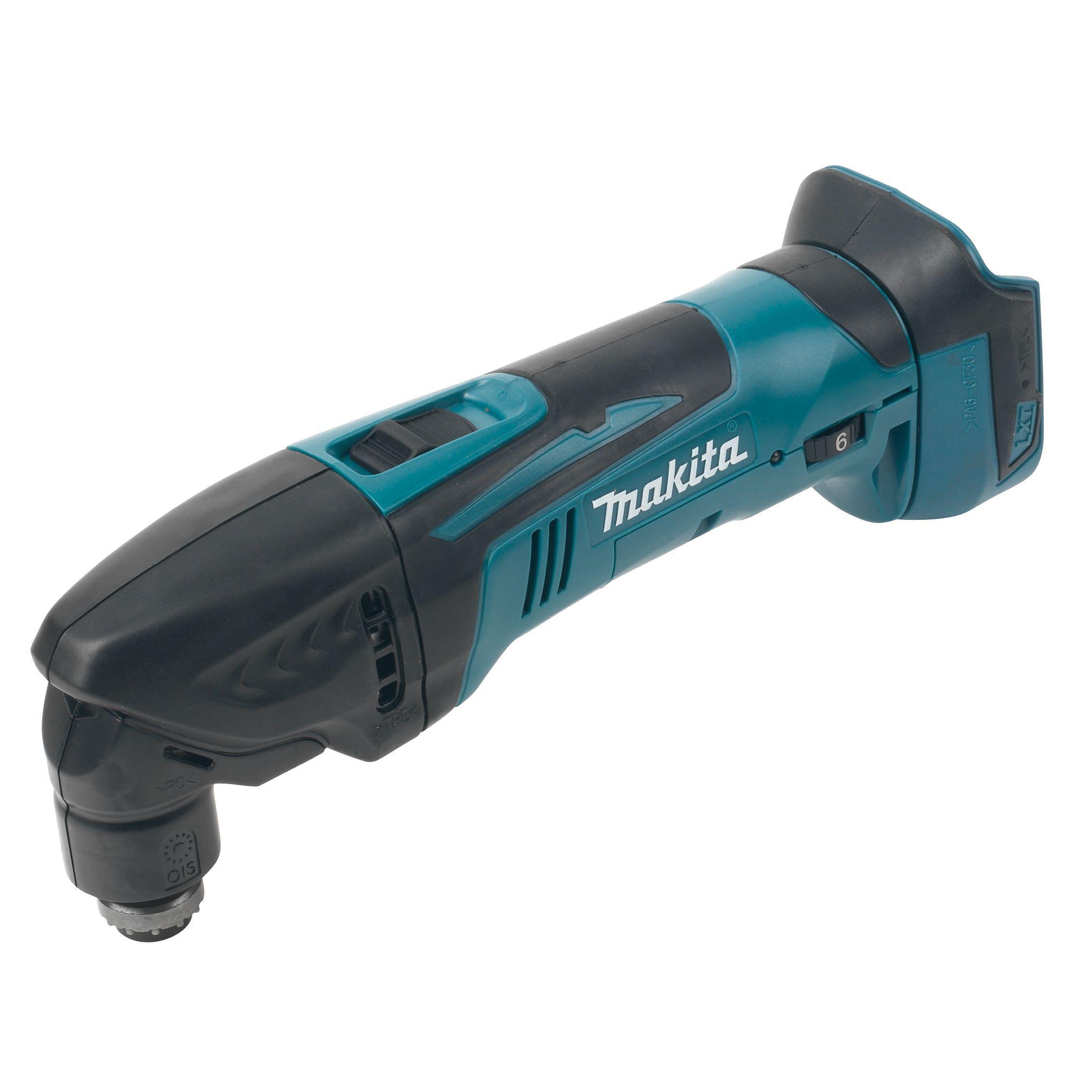 makita cordless grinder. makita lxt 18v cordless multi tool dtm50z - bare | tools \u0026 hobby diy at b\u0026q grinder