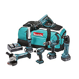 Makita Cordless 18V 4Ah 6 Piece Power Tool