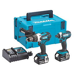 Makita 5.0Ah Li-Ion Twin Kit 2 Batteries DLX2145TJ