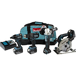 Makita LXT Cordless 18V 5.0Ah 4 Piece Multi