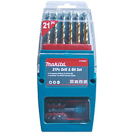 Makita Mixed Drill Bit Set, 21 Pieces