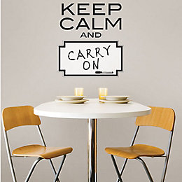 Wallpops Keep Calm Black Self Adhesive Wall Sticker