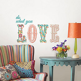 Wallpops Do What You Love Multicolour Self Adhesive