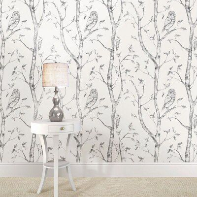 Tree Wall Paper grey trees wallpaper | diy