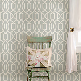 Wallpops Grand Trellis Grey Peel & Stick Wallpaper