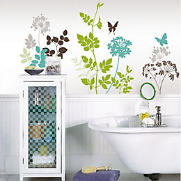 Wallpops Habitat Multicolour Self Adhesive Wall Sticker (H)86cm