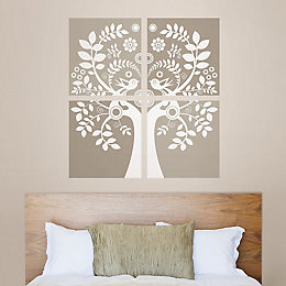 Wallpops Love Birds Gold Self Adhesive Wall Sticker
