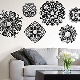 Wallpops Baroque Black Self Adhesive Wall Sticker (H)74cm