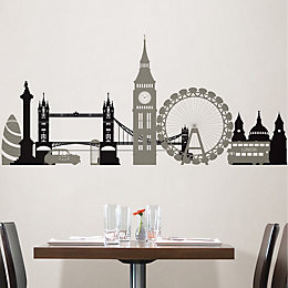 Wallpops London Calling Black Self Adhesive Wall Sticker