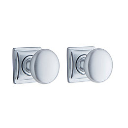 B&Q Polished Chrome Effect Round Internal Door Knob,