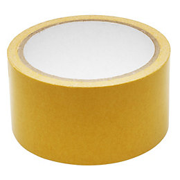 B&Q White Double Sided Carpet Tape (L)10M (W)50mm