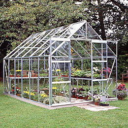 B&Q Premier 8X12 Horticultural Glass Greenhouse
