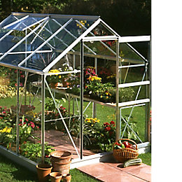 B&Q Premier 6X8 Toughened Safety Glass Greenhouse