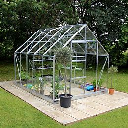 B&Q 8X10 Toughened Safety Glass Greenhouse