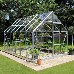 B&Q 8X12 Toughened Safety Glass Greenhouse