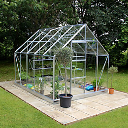 B&Q 8X10 Horticultural Glass Greenhouse