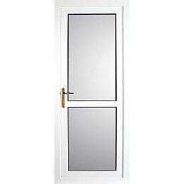 Mid Bar White PVCu Fully Glazed Back Door