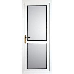 Lainston Mid Bar White PVCu Fully Glazed Back