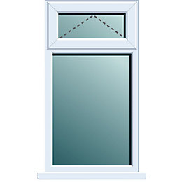 White PVCu Top Hung over Fixed Lite Window