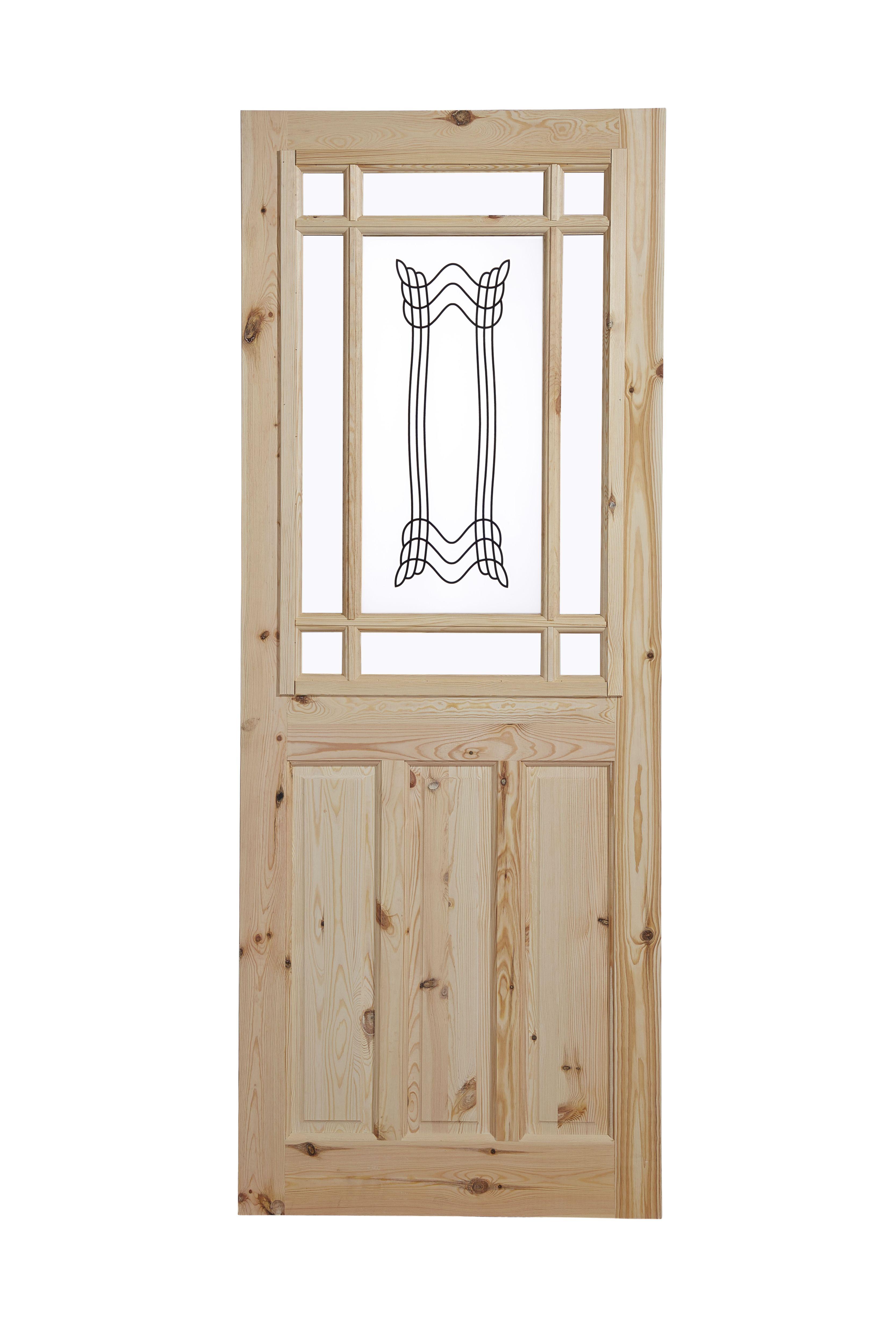 Glass Pine Panel