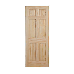 6 Panel Clear Pine Internal Unglazed Door, (H)1981mm