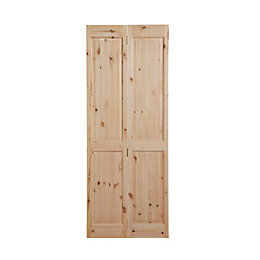 4 Panel Knotty Pine Internal Bi-Fold Door, (H)1981mm