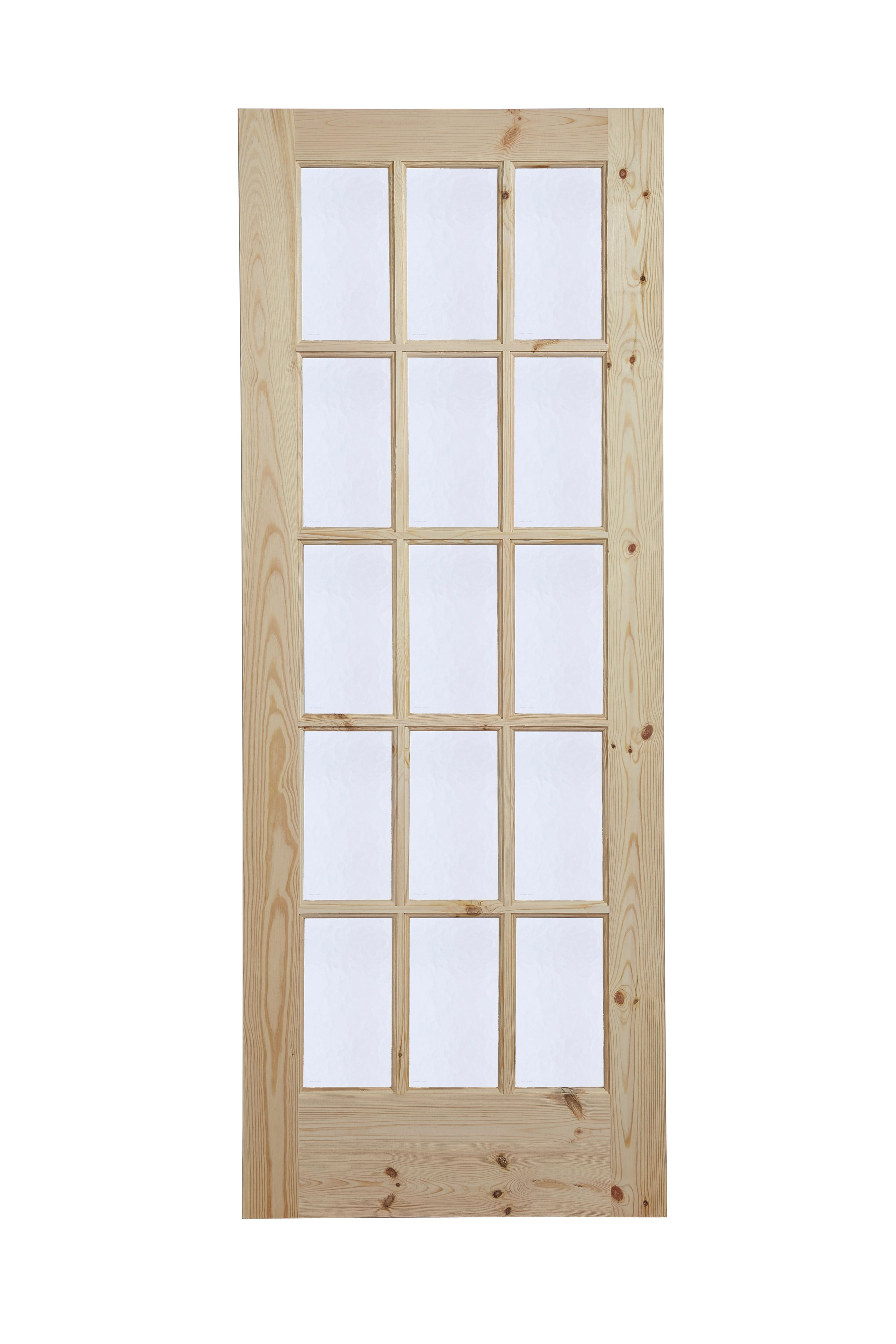Fully Glazed 15 Lite Knotty Pine Internal Door H 2032mm W 813mm Departments Diy At B Q