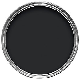 Colours Black Smooth Masonry Paint 2.5L
