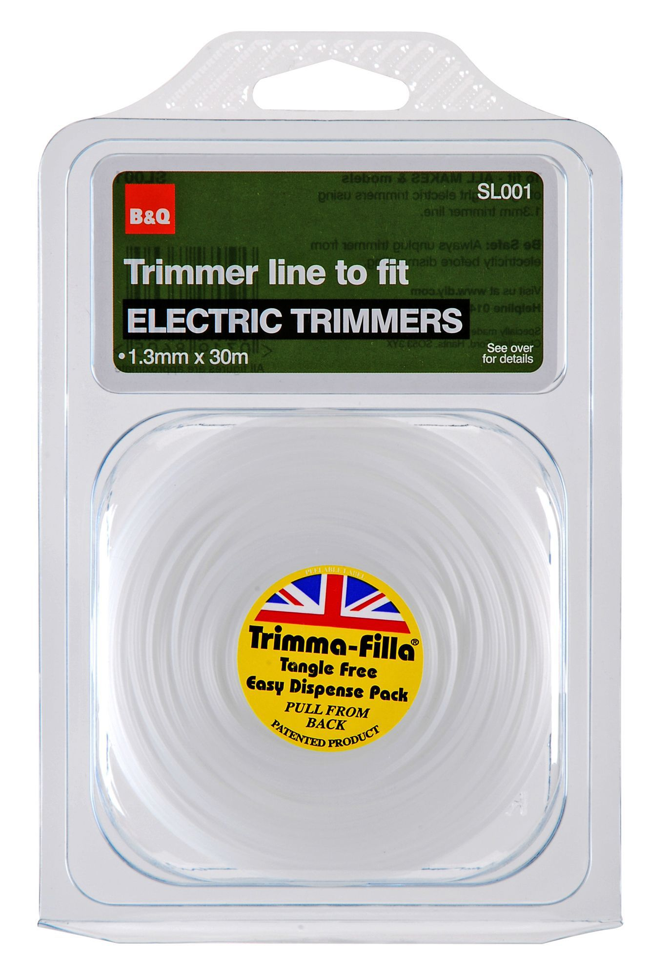 B&q Trimmer Line To Fit Electric Trimmers (t)1.3mm