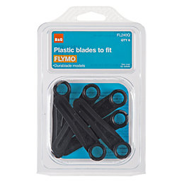 B&Q FL240Q Plastic Lawnmower Blade, Pack of 6