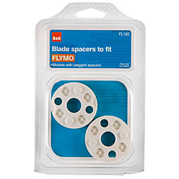 B&Q White Blade Spacers, Pack of 2