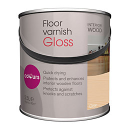 Colours Quick Dry Clear Gloss Floor Varnish 2.5L