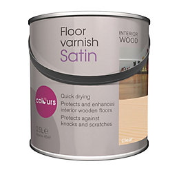 Colours Clear Satin Floor Varnish 2.5L