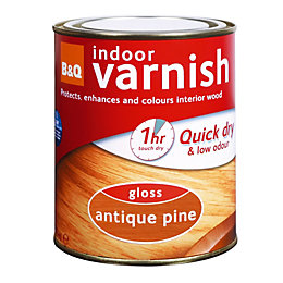 B&Q Antique Pine Gloss Interior Varnish 250ml