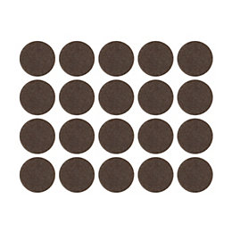 B&Q Brown Felt Self Adhesive Pad Protector (Dia)16mm,