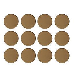 B&Q Brown Plastic Self Adhesive Glide (Dia)22mm, Pack